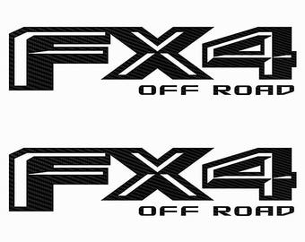 FX4 Off Road Black Carbon Fiber Ford F150 2015 2016 2017 Decals Sticker Avery Dennison CF