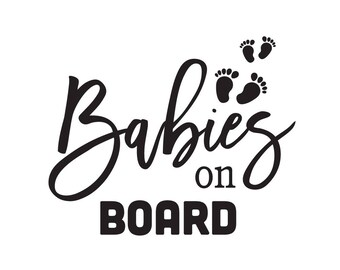 Babies On Board Vinyl Sticker | Car Decal | Baby On Board