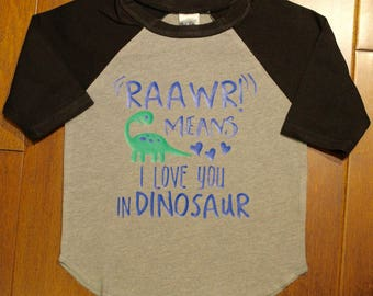 Dinosaur Shirt, Raawr Means I love You in Dinosaur, Boys Dinosaur Shirt, Dinosaur, Boys Dinosaur Tee, Dinosaur T Shirt, Dinosaur Tee Shirt