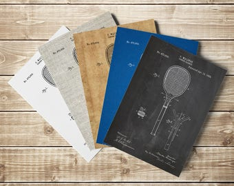 Tennis Racket Patent Print, Tennis Poster, Tennis Art, Tennis Racket,Tennis Gifts,Sports Wall Art,Tennis Art,Tennis Player, INSTANT DOWNLOAD