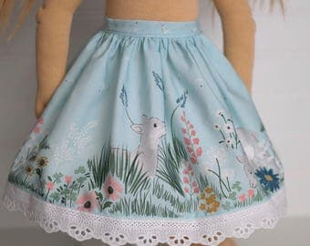 Lamb and Lace Doll Skirt