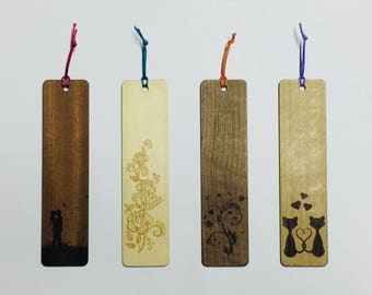 Personalized Wooden Bookmark Gift Idea