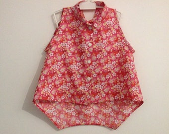 Flower Sleeveless Tunic