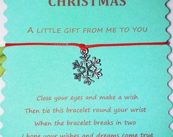 Colleague Gift, Employee Gift, Christmas Wish Bracelet, Stocking Filler, Christmas gift, Secret Santa, Co-worker gift, Boss gift, Xmas Gift