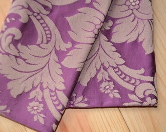 Coupon of fabric damask purple 62 x 103 cm