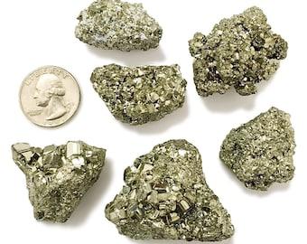 1/2 Pound Pyrite Cocada - Fools Gold - Chakra, Healing, Reiki, Wholesale