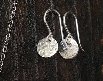Sterling moon drop earrings