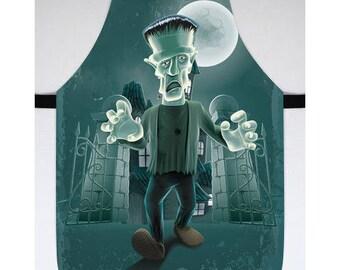 Frankenstein Halloween Costume Halloween Kitchen Decor Apron for Halloween Halloween Frankenstein