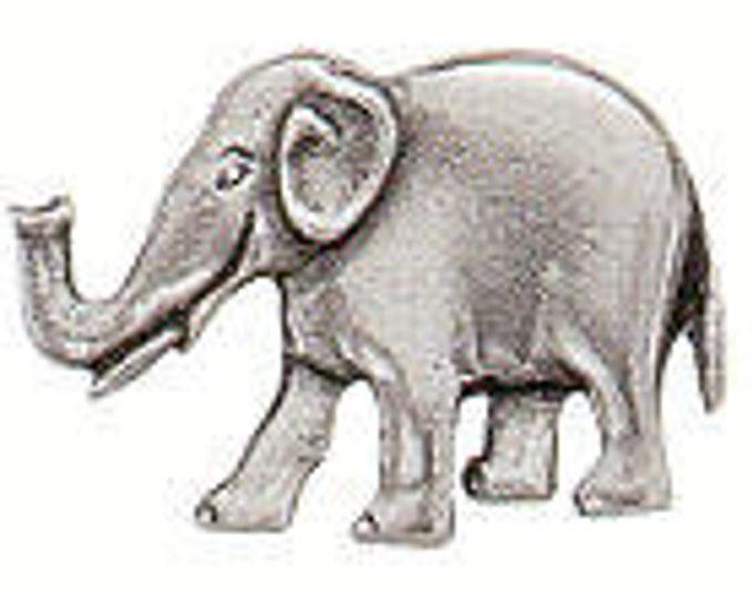 Elephant Danforth pewter shank button