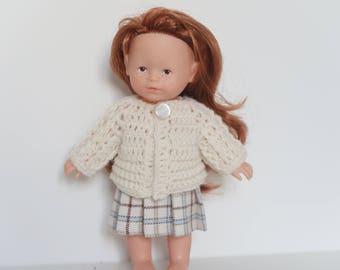 Skirt, vest type doll clothes mini corolline 20cm