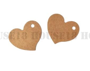 Small Heart Tag Kraft Tag Brown Paper Tag Hang Tag Price Tag Gift Tag Favor Tag 900 PCS   with Hole   Blank