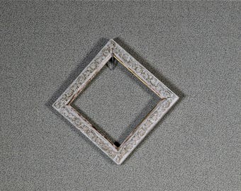 3x3 Frame White Ornate Wood with Optional UltraVue® UV70 Glass