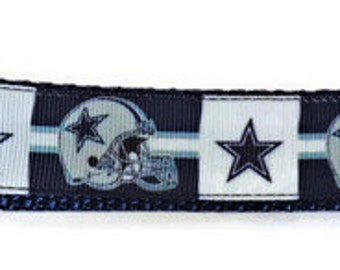 Dallas Cowboys Inspired Adjustable Dog Collar