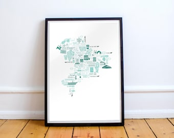 Hackney map A3 poster