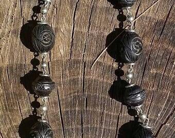 Beautiful Black Beaded Necklace