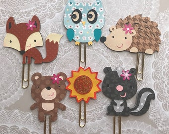 Owl paper clips, planner paper clips, planner accessories, happy planner,bookmarks, planner paperclips, personal planner, travel planner, 1