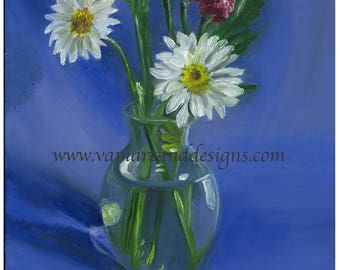 Giclee Canvas Print of an Original Painting Flower Study Still Life - 18 inches x 24 inches