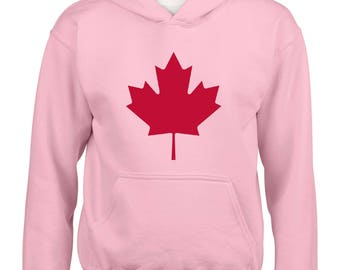 Canada Toronto Maple Leafs Proud Canadian Vancouver Guide Map Flag Gift Girls Boys Youth Kids Hoodie