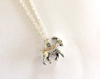 Goat necklace, Goat Gift, Goat pendant, goat keeper gifts, farming gifts, farm animal jewellery, gift for animal lover, capricorn jewellery