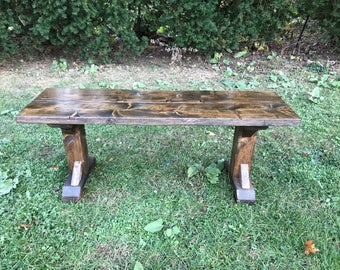 Farmhouse Bench, Rustic Farm Bench, Farm Table Bench, Barn Bench, Entryway Bench, Dining Room Table Bench, Distressed Bench