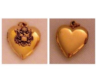 On Sale Gorgeous WWII Sweetheart Heart Locket