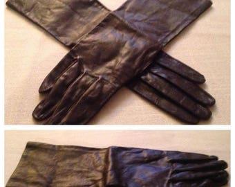 On Sale Vintage Brown Leather Gloves