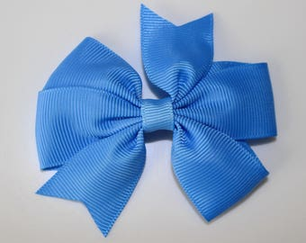 Blue bow for girl hair clip