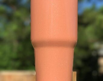 Peach Ice Cream Powder Coated Tumblers and Can Coolers, Yeti, Ozark Trail Rtic