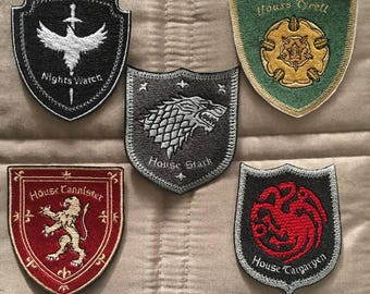 Game of Thrones Iron On Embroidery Patches