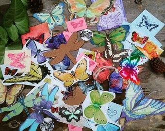 Butterfly pen pal/art journal /scrapbook/snail mail kit
