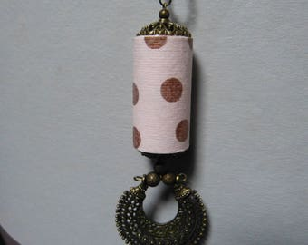 Ethnic necklace Summer dots paper bead