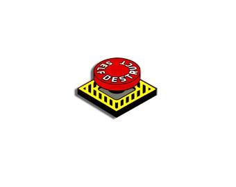 Self Destruct Pin - Enamel Lapel Pin