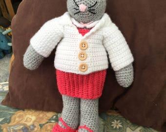 Clarissa the Crochet Cat