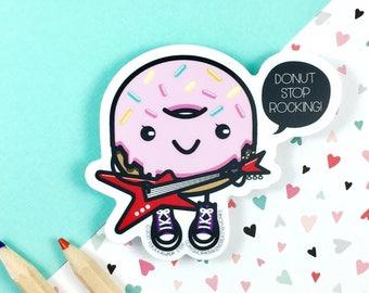 Cute Donut Sticker | Donut Gift | Laptop Sticker | Cute Sticker | Die Cut Sticker | Vinyl Sticker | Funny Sticker | Hipster Sticker | Kawaii