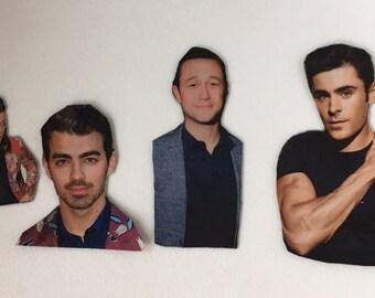 Assorted Hollywood Hunks Magnet Set - Joe Jonas, Harry Styles, Zac Efron, Joseph Gordon Levitt