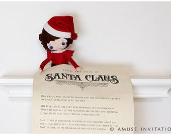 Elf Delivers Letter from Santa, Elf Letter, Christmas Elf Accessories, Santa's Elf Prop, Elf Printable, Christmas Elf Ideas, Easy Elf Ideas