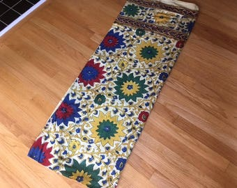 Vintage Block print cotton tapestries/Fabric/made in Pakistan/Twin size/Karvan