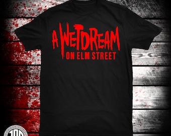 A Wetdream On Elm St - Men's (unisex) Tee - Black