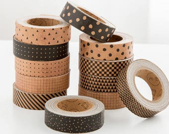Kraft Paper Tape Series - Planner, Journal, Craft, Scrapbooking, Decoration