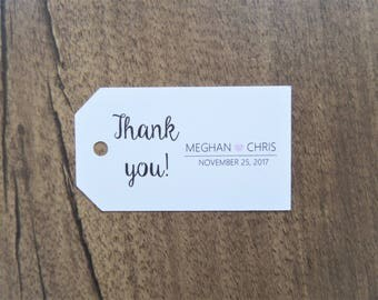 10 Thank You Tags | Wedding Favors | Custom Thank You Tags | Wedding Favor Tags | Party Favor Tags | Wedding Decor