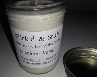 Luscious Vanilla 6oz Soy Wax Candle