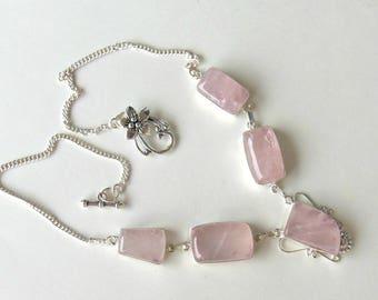 Rose Quartz Necklace - Collar
