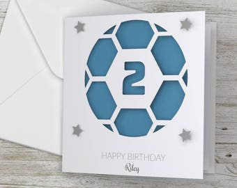 Personalized / Personalised Happy Birthday 3D Card Football