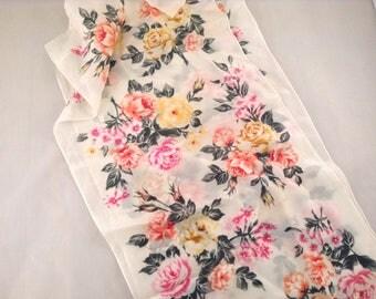Vintage Roses Silk Scarf