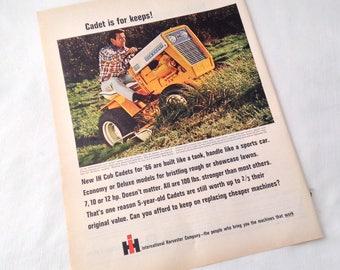 Vintage Cadet Lawnmower 1966 Magazine Ad