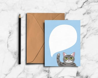 Blue Pixie Greeting Card (PP17)