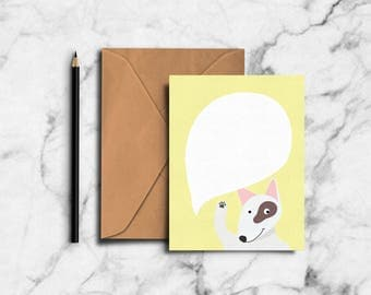 Yellow Pixie Greeting Card (PP17