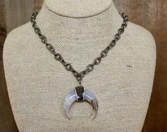 Gunmetal Chain Necklace