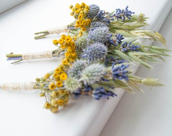 The boutonniere, a Bridal bouquet groom's, natural material, dried plants, bouquet, flower brooch, wedding decor,