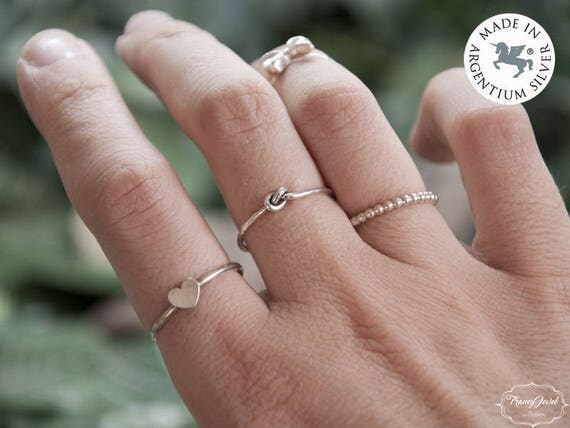 Hug ring, knot ring, infinity ring, stackable ring, Argentium Silver, Argentium 935, ethical rings, made in Italy, handmade, boho jewelry